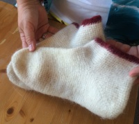 Renata's Coppergate socks