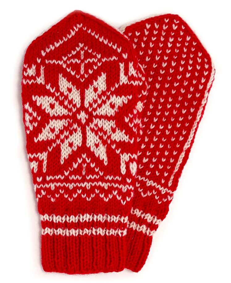 Uncle Arne's Selbu Rose Mittens by Kate Running